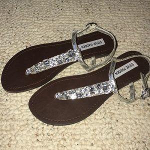 New!  Steve Madden clear gem sandals